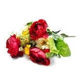 OHOME Decor Artificial Flowers Piony 13 Cabang [AN-B000350] - Red (Merchant) - Tanaman Buatan/Artificial