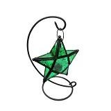 OHOME Decor Classy Lentera Bintang Kaca [VB0167] - Green (Merchant) - Lilin & Tempat Lilin