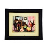 OHOME Decor Happy Family 3D Picture Frame [SP3936] (Merchant) - Photo Display / Frame
