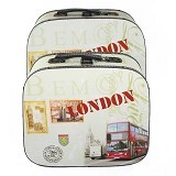 OHOME Koper Vintage London Tempat Penyimpanan Set Isi 2 [AN-BX0049] (Merchant) - Container