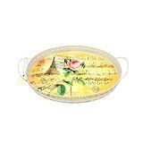 OHOME Nampan Multifungsi Oval Motif Bunga Size S [AN-VB0101B-S] (Merchant) - Nampan / Baki