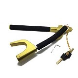 OKLOCK Folding Steering Wheel Lock [V8X] - Gold - Kunci Stir Mobil
