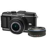 OLYMPUS E-P3 Double Kit - Black - Camera Mirrorless