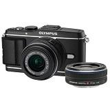 OLYMPUS E-P3 Double Kit - Black - Camera Mirrorless