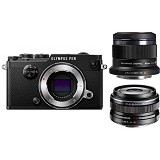 OLYMPUS PEN-F Mirrorless Micro Four Thirds Digital Camera Double Kit - Black - Camera Mirrorless
