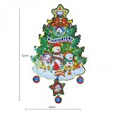OMOMART Dekorasi Natal Christmas Tree Snow Doll - Wall Art / Hiasan Dinding
