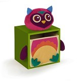 OOPS Lemari Laci Penyimpanan 1 Susun Owl Mr.Woo [OP70003.12] - Green - Nursery Furniture & Decor