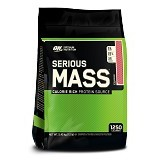 OPTIMUM NUTRITION On Serious Mass 12 LB - Strawberry - Suplement Peningkat Metabolisme Tubuh