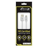 OPTIMUZ Kabel Lightning 8-pin i5 Apple MFI Certified 3M - White - Cable / Connector Usb