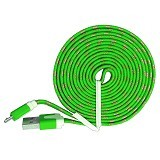 OPTIMUZ Noodle Cable Fabric 3M Micro USB [OPT-CBL-FBRC-3M-GRN] - Green - Cable / Connector Usb