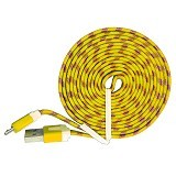 OPTIMUZ Noodle Cable Fabric 3M Micro USB [OPT-CBL-FBRC-3M-YLW] - Yellow - Cable / Connector Usb