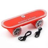 OPTIMUZ Portabel Bluetooth LED Light Scooter - Red - Speaker Bluetooth & Wireless