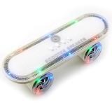 OPTIMUZ Portabel Bluetooth LED Light Scooter - White - Speaker Bluetooth & Wireless