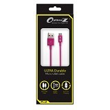 OPTIMUZ V8 Kabel Data Micro USB 3Meter - Pink - Cable / Connector Usb