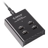 ORICO 4 Port Charging Station [ORICO-DUB-4P-BK] - Black (Merchant) - Universal Charger Kit