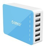 ORICO CSA-6U Travel Desktop Charger [ORI-USB-CHG-CSA-6U-BL] - Blue - Universal Charger Kit