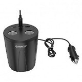 ORICO Cup Charger Mobil 3 USB port 2 Cigarrette Lighter [MP-3U2S] - Black (Merchant) - Car Kit / Charger