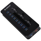 ORICO H10C1-U3 Super Speed 10 Port USB3.0 Hub [ORI-USB-CHG-H10C1-U3-BLK] - Black - Cable / Connector Usb