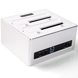 ORICO HDD 2Bay Docking/Clone Station 2.5/3.5 Inch USB 3.0 [6828US3-C-Putih] - White - Hdd Docking