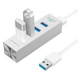 ORICO High Speed HUB 4 Port USB 3.0 Type A/C [ASH4-U3-Silver] - Silver (Merchant) - Cable / Connector Usb