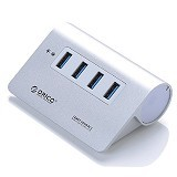 ORICO Super Speed HUB 4 Port USB 3.0 [M3H4 SV- Silver] - Silver - Cable / Connector Usb