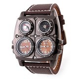 OULM Multifunction Watch For Men [1140] - Brown - Jam Tangan Pria Fashion