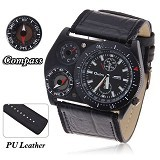 OULM Multifunction Watch For Men [4094] - Black - Jam Tangan Pria Fashion