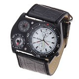 OULM Multifunction Watch For Men [4094] - White - Jam Tangan Pria Fashion