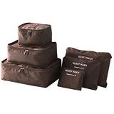 OUR CHICS SHOP 3rd Gen Bag in Bag - Brown - Travel Bag
