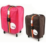"OUR CHICS SHOP Luggage Cover 24"" With Combination Belt - Cover Bag/Pelindung Tas"
