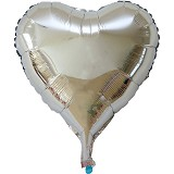 OUR DREAM PARTY Balon Foil Hati - Warna Silver 30cm - Balon