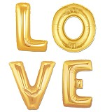 "OUR DREAM PARTY Balon Foil Kata ""LOVE"" - Gold - Balon"