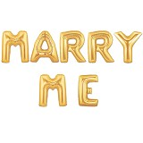 "OUR DREAM PARTY Balon Foil Kata ""MARRY ME"" - Gold - Balon"