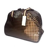 OUTLETKAKI5 Travel Bag Houndstooth Bronze (Merchant) - Travel Bag