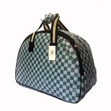 OUTLETKAKI5 Travel Bag LV Green Semi Kulit (Merchant) - Travel Bag