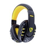 OVLENG Headphone Bluetooth with Mic Noise Canceling [V8] - Yellow (Merchant) - Headset Bluetooth