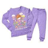 OWLIE BIRDIE Pajamas Purple Doll Size for 2 Years [OB-p-doll] - Setelan / Set Bepergian/Pesta Bayi dan Anak