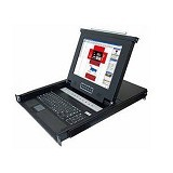 OXCA 17-inch LCD console with 8 port KVM switch [KLB-108] (Merchant) - Kvm Switch Lcd