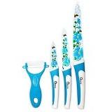 OXONE Flower 4Pcs Knife Set [OX-607-B] - Blue - Pisau Dapur Set