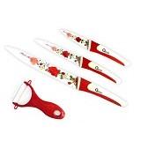 OXONE Flower 4Pcs Knife Set [OX-607-R] - Red - Pisau Dapur Set