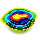 OXONE Rainbow Mixing Bowl Set 8pcs [OX-041] - Mangkuk / Mangkok / Bowl