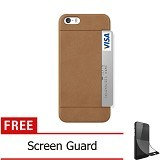 OZAKI O!Coat 0.3 Pocket Ultra Slim for iPhone 5/5S [OZ-OC547BR] - Brown - Casing Handphone / Case