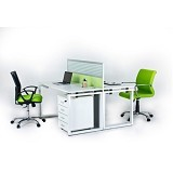 PALAZZO FURNITURE Aditech Meja Staff Partisi [FRW 03] - Maple - Meja Kantor