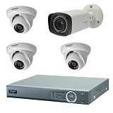 PANASONIC CCTV AHD DVR + 3 HD Indoor Camera + 1 HD Outdoor Camera (Merchant) - Cctv Camera