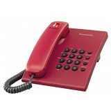 PANASONIC Corded Phone [KX-TS505] - Red - Corded Phone