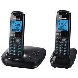 PANASONIC Cordless Telephone Wireless [KX-TG5522] - Black - Wireless Phone