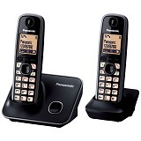 PANASONIC Cordless Telephone Wireless [KX-TG6612] - Black - Wireless Phone