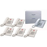 PANASONIC KX-TES824 + KX-T7730 + 5 Unit KX-TS505 3 Line 8 Extension - PABX Analog