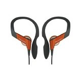 PANASONIC Lightweight Shockwave Sport Clip Earphones [RP-HS33E-D] - Orange - Earphone Ear Bud