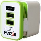 PANZER Travel Charger 3 IN 1 [TC 3IN1] (Merchant) - Charger Handphone